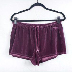 PINK Womens M Maueve Velour Sleepwear Shorts